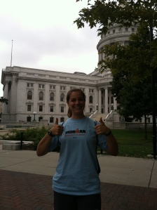 Not the most flattering picture...but the only one in my clean volunteer shirt.