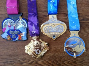 "So pretty! The fourth medal is for doing both the 10k and the half (Disney likes creating ""challenges"" by combining events)"